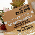 Personalized Double Layer Kraft Save the Date Tags
