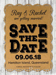 Personalized Kraft Vintage Lace Save the Date Card with Envelope