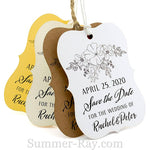 Personalized Little Violin Save the Date (II) Tags with Twine