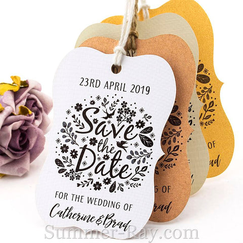 Personalized Little Violin Save the Date (IV) Tags with Twine