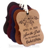 Personalized Suede Leather Little Violin Save the Date (II) Tags