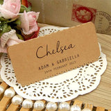 Personalized Vintage Lace Wedding Place Card