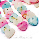 Pearl Shell Beads in 4 designs - 50 pieces