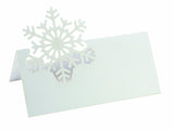 White Laser Cut Wedding Snowflake Winter Theme Frozen Theme Place Cards