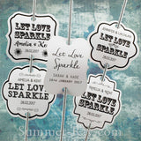 Personalized Let Love Sparkle White Wedding Sparkler Tags