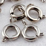 White Gold Plated Springing Clasps