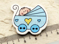 Wooden Baby in Pram - 20 or 100 pieces