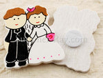 Wooden Bride and Groom Embellishment