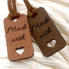 Microfiber Made-with-Love Suede Tags