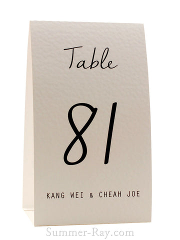 Personalized White Nella Sue Table Number