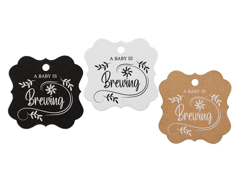 A Baby is Brewing Baby Shower Favors Gift Tags Thank You Tags