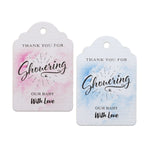 Water Color Thank You for Showering Our Baby with Love Baby Shower Favor Tags