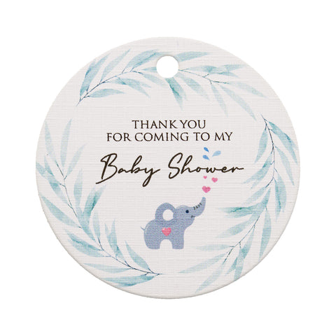 Thank You for Coming to My Baby Shower Baby Elephant Theme Thank You Tags Favor Tags