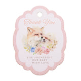 Thank You for Showering Our Baby with Love Fox Themed Baby Shower Thank You Tags Favor Tags