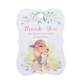 Alpaca Thank You for Showering Us with so Much Love Baby Shower Thank You Tags Favor Tags