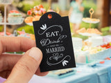 Eat Drink and be Married Wedding Favors Gift Tags Thank You Tags