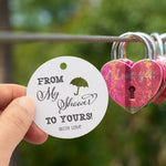 From My Showers to Yours Bridal Shower Favors Gift Tags Thank You Tags