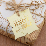 Gold Foil We Tied The Knot so Have a Shot Vintage Wedding Favors Gift Tags Thank You Tags