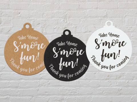 Take Home S'More Fun Treat Tags Birthday Party Favors Tags Gift Tags Thank You Tags