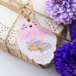 Thank You for Celebrating Safely with Us Driving by Tags Bridal Shower Birthday Favor Tags Party Parade Tags