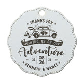Personalized Scallop Thanks for Joining Us on Our Adventure Wedding/Bridal Shower Favor Gift Tags