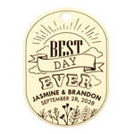 Personalized Wedding Welcome Gift Tags Best Day Ever Bridal Shower Welcome Bag Oval Tags