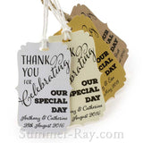 Personalized Bracket Thank You for Celebrating our Special Day Favor Tags