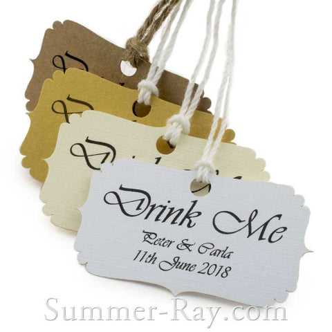 Personalized 'Drink Me' Gift Tags