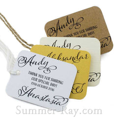 Personalized Rounded Rectangle Thank You for Sharing our Special Day Gift Tags