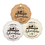 Personalized Scallop Thanks for Joining Us on Our Adventure Wedding/Bridal Shower Favor Gift Tags in Nature Theme