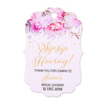 Personalized Sip Sip Hooray Champagne Mini Wine Bottle Wedding Bridal Shower Tags