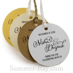 Personalized Round Thank You for Celebrating with Us Favor Tags