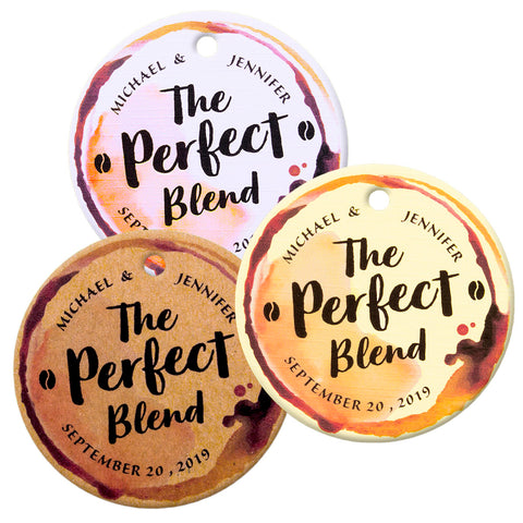 Personalized The Perfect Blend Tea Favors Coffee Favors Wedding Party Thank You Gift Tags