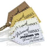 Personalized Landscape Little Arrow Warmest Thanks for Joining Us Favor Tags