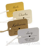 Individually Personalized Guest Names Rounded Rectangle Favor Tags
