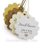 Individually Personalized Guest Names Scallop Favor Tags