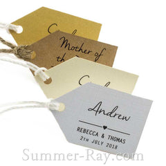 Individually Personalized Guest Names Little Arrow Favor Tags