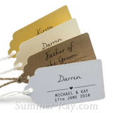 Individually Personalized Guest Names Vintage Favor Tags
