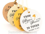 Personalized From My Shower to Yours Bridal Shower Gift Tags