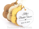 Personalized Scallop Bridal Shower Gift Tags