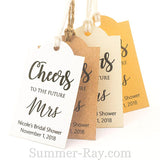 Personalized Cheers to the Future Mrs Bridal Shower Gift Tags