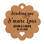 Personalized Sending You S'More Love Wedding Favors Scallop Gift Tags
