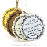 Personalized Scallop Love is Sweet Gift Tags