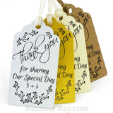 Personalized Thank You for Sharing our Special Day (II) Gift Tags