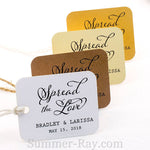 Personalized Spread the Love Rounded Rectangle Gift Tags