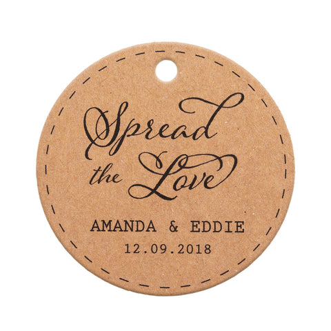 Personalized Spread the Love Round Gift Tags