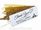 Personalized We Are In Love Thank You Gift Tags