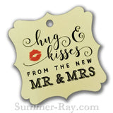 Elegant Square Hug and Kisses Gift Tags