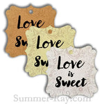 Elegant Square Love is Sweet Gift Tags