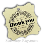 Elegant Square Thank You Gift Tags